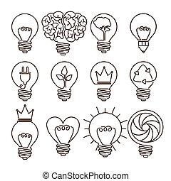 bulb design - bulb design over white background, vector...