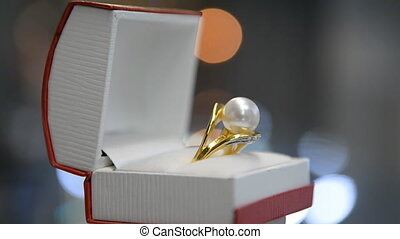 Ring in gift box jewel
