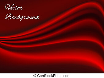 Artistic red fabric texture vector background