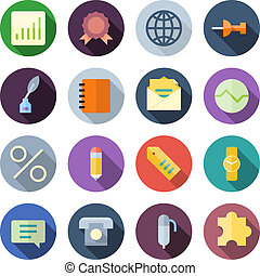 Flat Design Icons For Business. Vector illustration eps10,...