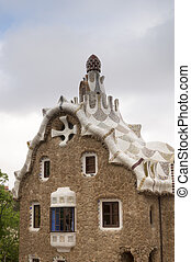 Park Guell in Barcelona, Spain - Mysterious Park Guell in...