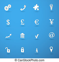 Business infographic icons set with currency signs isolated...