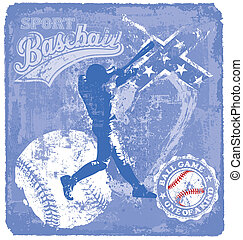 baseball batter - baseball sport vector for shirt printed...