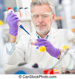 Life scientist researching in the laboratory - Life...