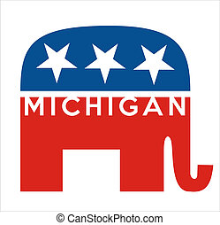 republicans Michigan - very big size republicans party...