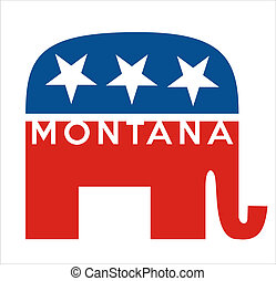 republicans Montana - very big size republicans party...
