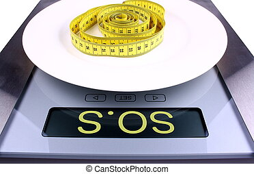 Digital scale with sos ad Weight concept - Digital scale...