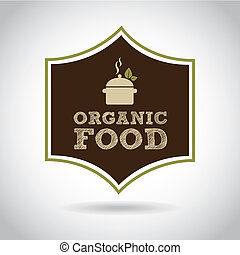 Organic food design over gray background, vector...