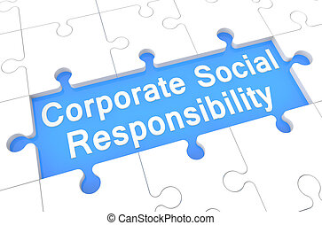 Corporate Social Responsibility - puzzle 3d render...