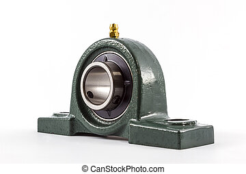 Bearing unit. - Ball bearing unit isolated on a white...