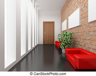 Reception - High resolution image interior 3d illustration...