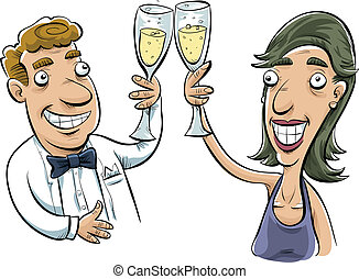 Toasting Couple