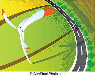 ECO life from above view illustrati - ECO life - life style...