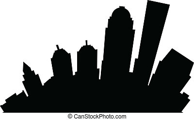 Cartoon Louisville - Cartoon skyline silhouette of the city...