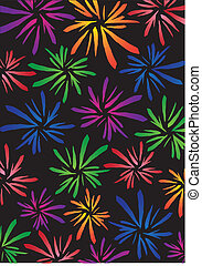 Firework background - Pattern background with different...