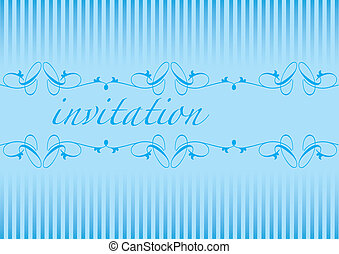 Invitation cards in an blue. Vector illustration.