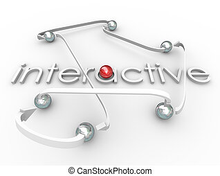 Interactive Word Connected Balls Social Communication