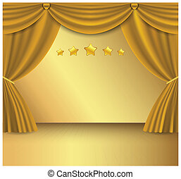 Gold curtain  - Can use for business background.