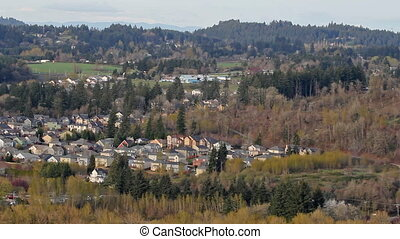 Happy Valley Oregon Suburbs 1080p - Panoramic View of Happy...