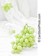 Bunch of grapes in glass