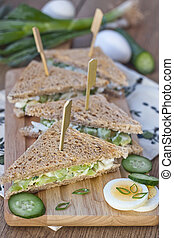 Egg salad sandwiches - Traditional five-o-clock sandwiches...