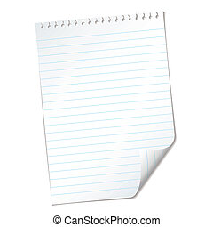 ripped lined page - single piece of White note pad paper...