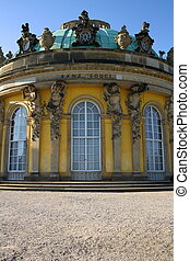 Sanssouci Palace in Potsdam, vertical