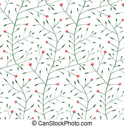 Fine Floral Ornament Seamless Pattern Background - Delicate...