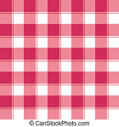 checked weave - Traditional red and white checked seamless...