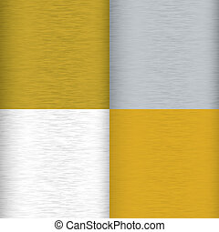brushed metal variation - Four brushed metal background...