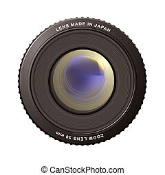 zoom lens - illustrated close up of a camera zoom lens with...