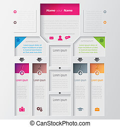 Vector multilevel infographic design template
