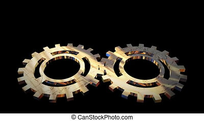 Gears in Motion - Animated Gears and Gogs turning