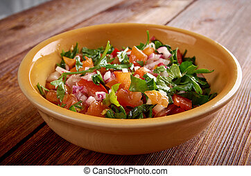 Pico de gallo - In Mexican cuisinealso called salsa fresca