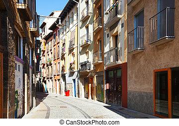 Old street in  Pamplona  - Old street in  Pamplona. Navarre