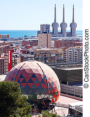 Kind of Badalona and Sant Adria de Besos. Barcelona, Spain