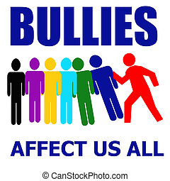 bullys affect all - bullies affect us all illustration...