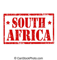 South Africa-stamp - Grunge rubber stamp with text South...