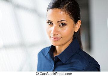 cute corporate worker - close up portrait of cute female...