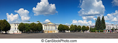 View of Yaroslavl - central square in front of the city...