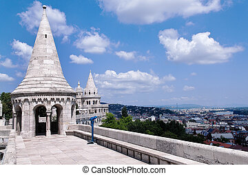 hungary, budapest, fishermans bastion - eurtopa, hungary,...
