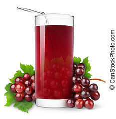 Grape juice - Glass of grape juice isolated on white