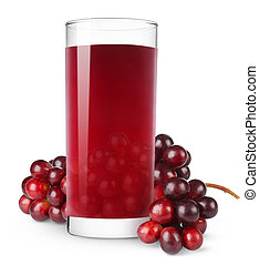 Cherry juice - Glass of cherry juice isolated on white