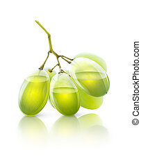 Grape juice - Transparent grapes, concept image for grape...