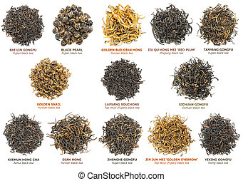 Black tea collection - Famous chinese black tea varieties...