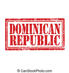 Dominican Republic-stamp - Grunge rubber stamp with text...