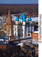 Gorokhovets in winter - View of Gorokhovets. Cathedral of...