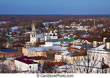 view of Gorokhovets in winter. Russia