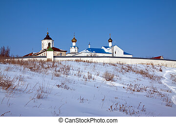 Vasiliev monastery at Suzdal in winter Russia