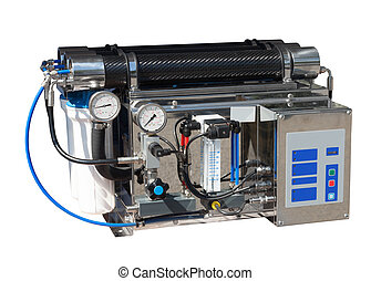 Reverse osmosis system Isolated over white